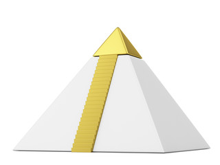 Pyramid with gold top