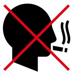 No smoking man vector icon