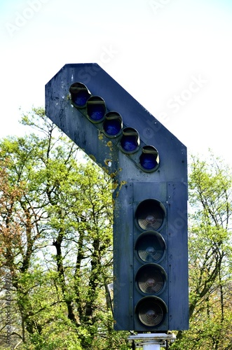 large set of railway lights