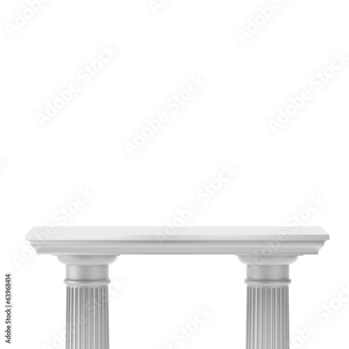 Empty Stand for Exhibit with columns