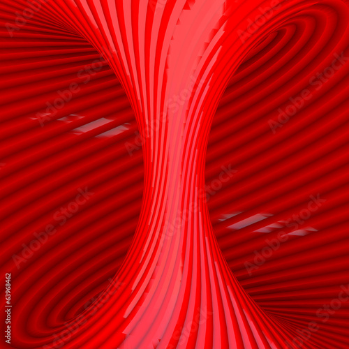 Fototapeta  Red Abstract Tunnel