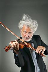Elegant senior violinist