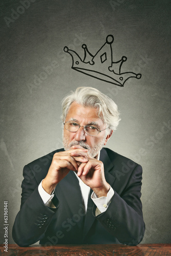 White hairs business leader portrait