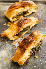 Spinach and bacon pie