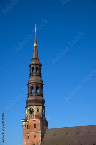 canvas print picture St. Katharinen Kirche - Hamburg