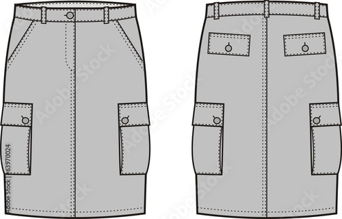 Vector illustration of women's sport skirt
