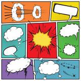 Fototapety Comic speech bubbles