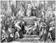 Medieval : Royal Court Scene - 13th century