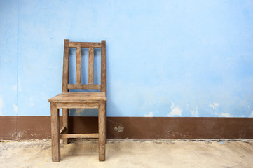 Old Wooden Chair in Abandoned Building