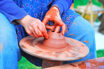 production on a potter's wheel