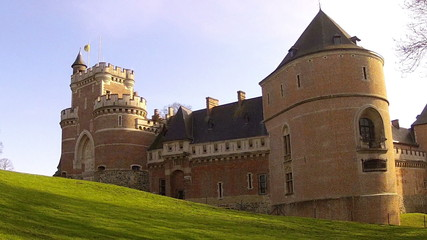 Gaasbeek Castle was erected around 1240 (Belgium).