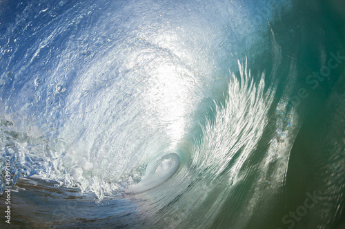 Wave Inside Hollow Water Ocean