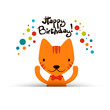 Birthday card with cute funny cat