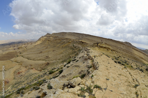 The Big Crater mountain landscape in Negev desert.