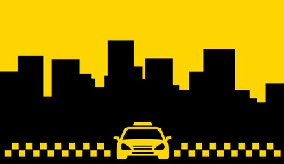 yellow taxi backdrop - transport background