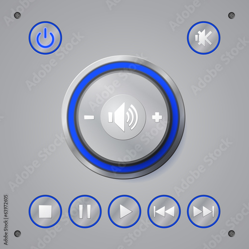 Media player button. Vector Illustration