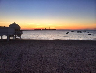 Sunset at Cadiz, Spain