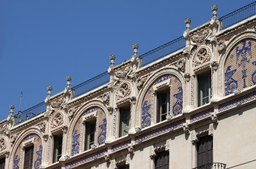 Facade of Gran Hotel in Palma de Mallorca, Spain