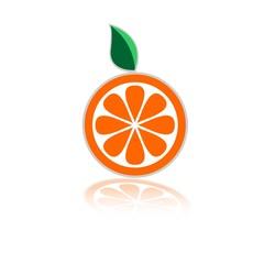 логотип апельсин круглый
