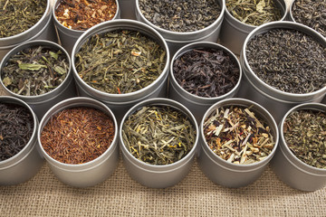 tea samples background