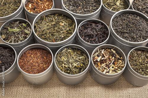 tea samples background