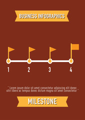 business Infographics, milestone