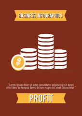 business Infographics, profit