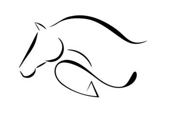 Horse logo jumping
