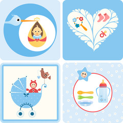 Baby Design Blue