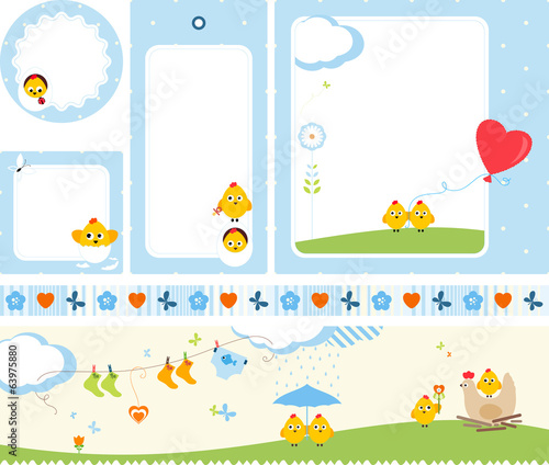 Baby Design Set Chickens