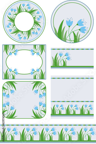 set of flower graphic elements for your design