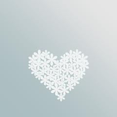Herz aus Papierblumen