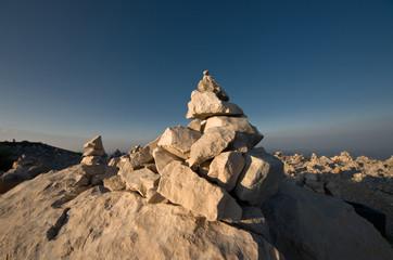 Piled Stones In Njegos's Mausoleum, Montenegro