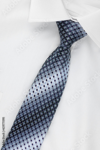 Closeup shirt and tie
