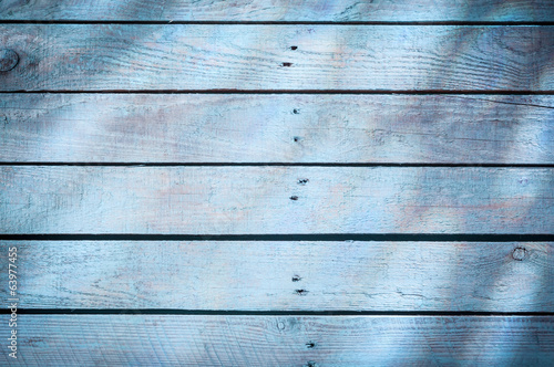Background of blue wooden boards