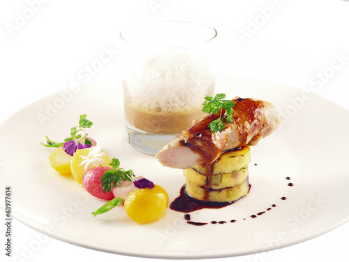 rabbit fillet with mushroom sherry sauce