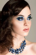 Magic Girl Portrait. Blue Makeup. Woman Fashion