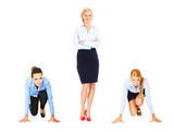 Three young businesswoman