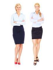Two young businesswoman
