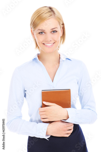 Businesswoman and book