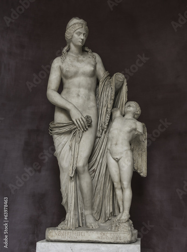 Statue of Venus with a boy, Capitoline, Rome, Italy