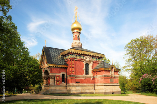 canvas print picture Russisch-Orthodoxe Allerheiligen-Kirche Bad Homburg