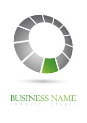 Business logo metal design