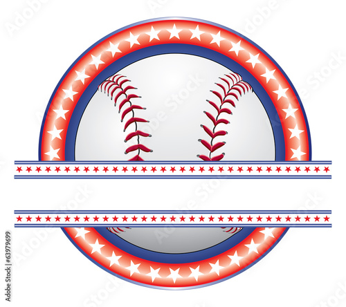 Baseball Design - Red White and Blue
