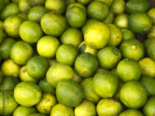 Green limes on the market