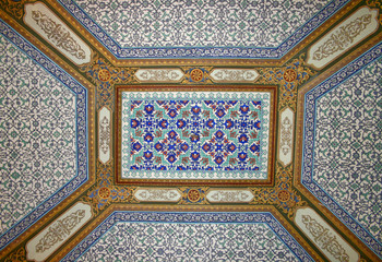 Ceiling Detail of Topkapi Palace in Istanbul