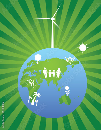 Wind turbine and planet green