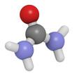 Urea (carbamide) molecule, chemical structure