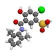 Xipamide diuretic drug molecule.