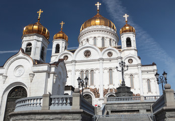 Cathedral of Christ the Saviour in Moscow, Russia